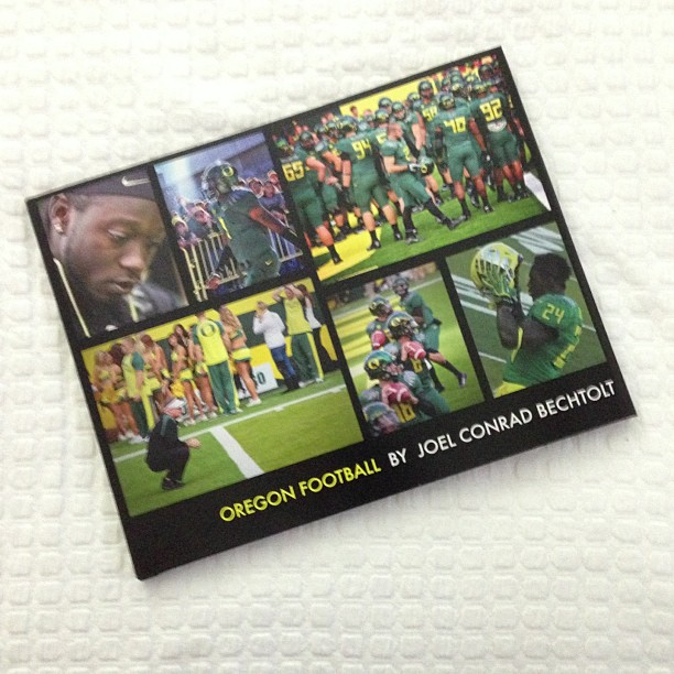 My first Oregon Football coffee table book oregonducks